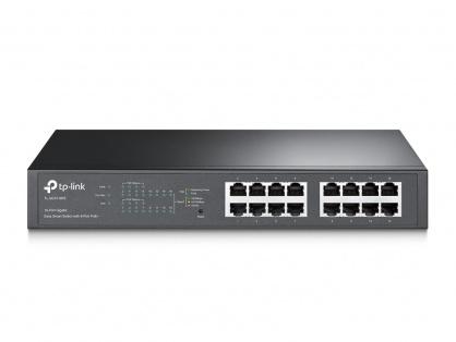 Switch PoE Gigabit Desktop/Rackmount 16 porturi, TP-LINK TL-SG1016PE