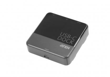Mini Docking station USB tip C la 2 x HDMI 4K + USB-A, ATEN UH3233