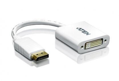 Adaptor Displayport la DVI T-M Alb, ATEN VC965