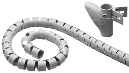 Organizator cabluri robust spiralat 2.5m Argintiu, 51922