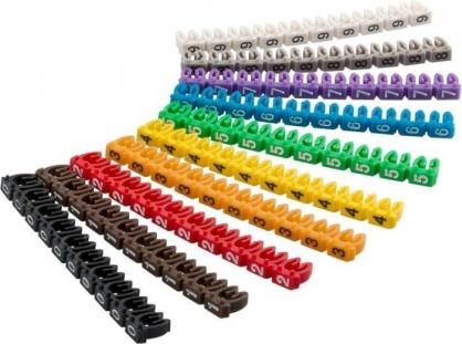Clips pentru marcarea cablurilor cu diametru de pana la 2.5-4mm, Goobay 72514