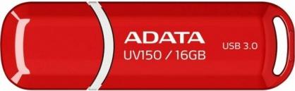 Stick USB 3.1 cu capac 16GB UV150 Rosu, ADATA AUV150-16G-RRD
