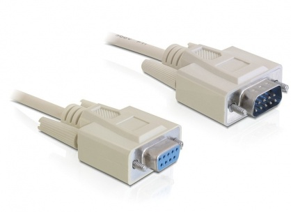 Cablu prelungitor Serial RS-232 DB9 T-M 5m, Delock 84016