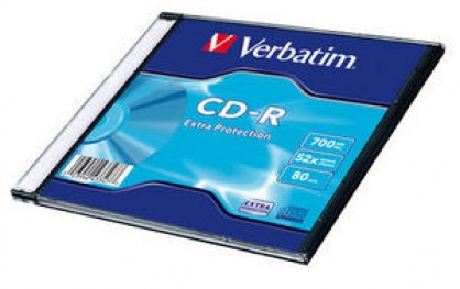 BLANK CD-R Verbatim 52X 700MB SINGLE SLIM CASE WRAP EXTRA PROTECTION