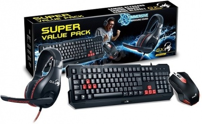 Kit Gaming 3 in 1 fir Tastatura KMH-200 + Mouse KMH-200 + Casti HS-G500, Genius