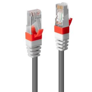 Cablu retea cat. 6A S/FTP LS0H Snagless 0.3m Gri, Lindy L45350