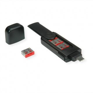 Cheie pentru securizarea portului USB + 4 blocatoare, Roline 11.02.8330