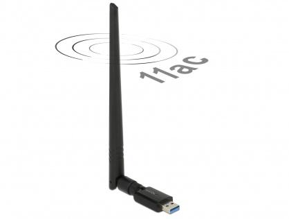 Placa de retea USB 3.0 Dual Band WLAN, Delock 12535