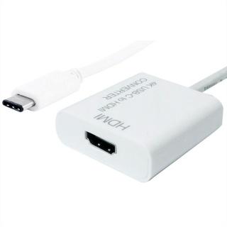 Adaptor USB tip C la HDMI T-M 10cm Alb, Value 12.99.3210