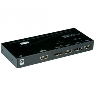 Switch HDMI/DisplayPort Switch cu 2 porturi, Roline 14.01.3572