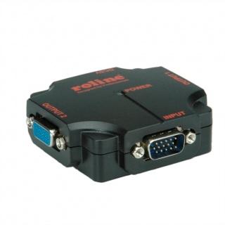 Multiplicator VGA 2 porturi 450Mhz, portabil, Roline 14.01.3534
