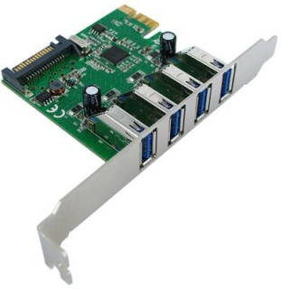 PCI Express cu 4 x USB 3.0, Value 15.99.2115