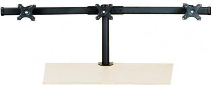 Suport pentru 3 x monitor LCD VESA 75/100 prindere masa, Value 17.99.1136
