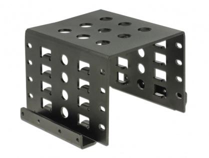"Kit de montare 4 x 2.5"" HDD in bay 3.5"" negru metal, Delock 18271"