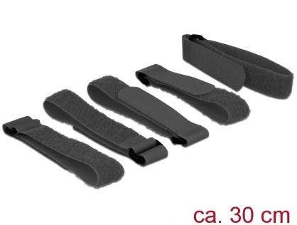 Set 5 bucati cureluse cu arici negre 300 mm x 20 mm, Delock 18704