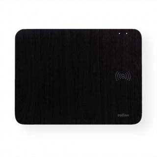 Mouse pad cu incarcare wireless 10W Negru, Roline 19.11.1014