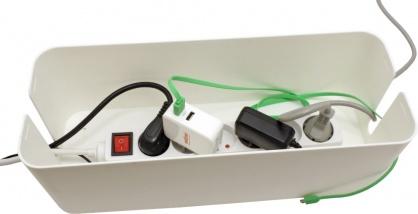 Cutie pentru organizarea cablurilor alba 407 x 157 x 133.5 mm, Value 19.99.3237