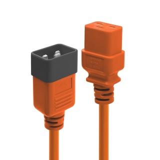 Cablu de alimentare IEC C19 la C20 3m Orange, Lindy L30128