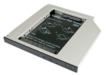 """Installation Frame (Caddy) Slim SATA 5.25 pentru 2.5"""" SATA HDD 9.5mm, Lindy L20935"""