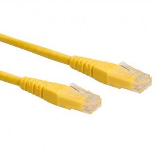 Cablu retea UTP Cat.6 0.3m Galben, Roline 21.15.1512
