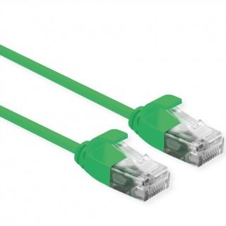 Cablu de retea Slim cat 6A UTP LSOH 0.15m Verde, Roline 21.15.3930