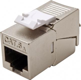Keystone Cat.6a RJ45 STP tool-free SLIM silver, Roline 26.11.0378