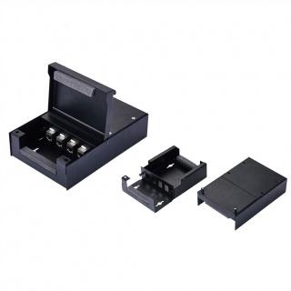 Carcasa metalica pentru 4 Keystone Negru, Value 26.99.0330