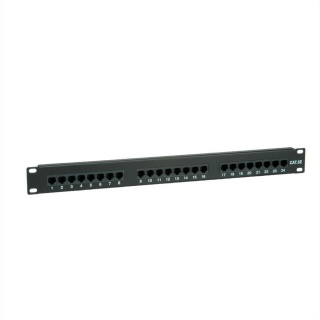 Patch Panel UTP Cat.5e 24 porturi, negru, Value 26.99.0349