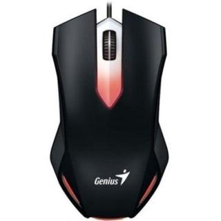 Mouse optic gaming X-G200, iluminare red LED, USB Negru, Genius
