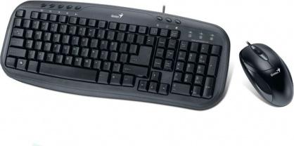 Kit tastatura + mouse USB KM-210 Negru, Genius