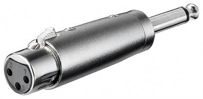 Adaptor jack mono 6.35mm la XLR T-M