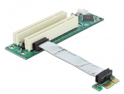 Placa PCI Express la 2 x PCI 32 Bit 5V cu cablu flexibil 9 cm, Delock 41341