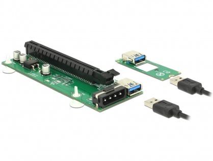 Riser card M.2 Key B+M la PCI Express x16, Delock 41428