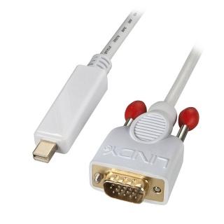 Cablu Mini Displayport la VGA T-T 1m Alb, Lindy L41475
