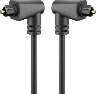Cablu audio optic Toslink unghi 90 grade 2m, Goobay 41593
