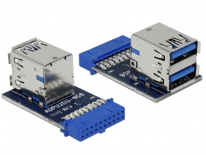 USB 3.0 Pin Header la 2 x USB 3.0 M-M, Delock 41865