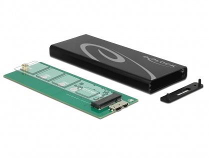 Rack extern M.2 NGFF SSD key B la USB 3.1, Delock 42570