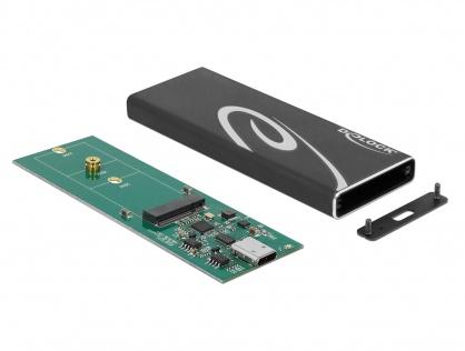 Rack extern M.2 SSD key B 60 mm la USB 3.1 tip C, Delock 42573