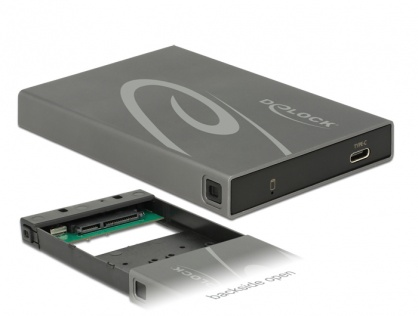Rack extern SATA HDD / SSD la USB 3.1 tip C, Delock 42587
