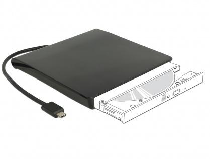 "Rack extern USB-C pentru dispozitive 5.25"" Slim SATA 12.7mm Negru, Delock 42601"