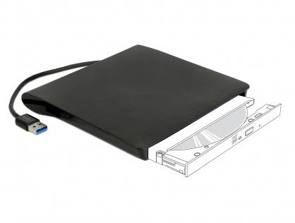 """Enclosure extern pentru dispozitive 5.25"""" Ultra Slim SATA 9.5 mm la USB-A Negru, Delock 42603"""