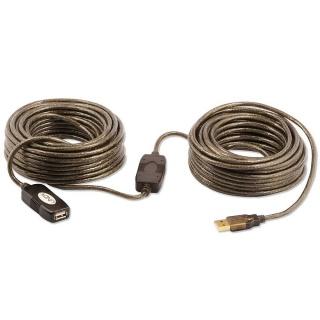 Cablu prelungitor activ USB 2.0 T-M 20m, Lindy L42631