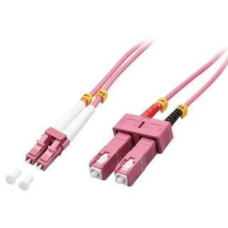 Cablu fibra optica LC-SC OM4 Duplex Multimode 20m, Lindy L46366