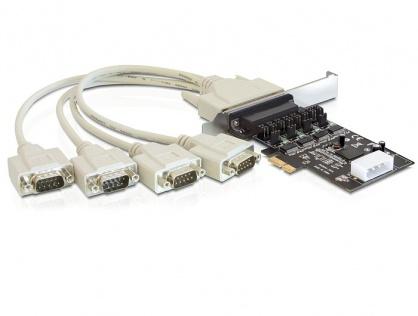 Placa PCI Express la 4 x Serial RS232 Power Management, Delock 89306