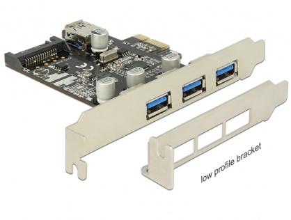 Placa PCI Express la 3 porturi externe + 1 port intern USB 3.0, Delock 89301