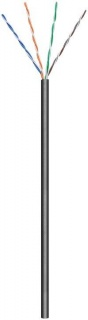 Rola cablu de retea cat.6 exterior UTP CCA 100m Negru, Goobay 57199