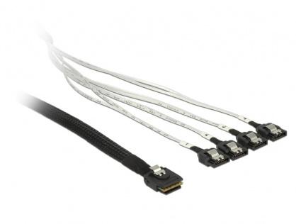 Cablu mini SAS 36 pini SFF 8087 la 4 x SATA 50cm, Delock 83058