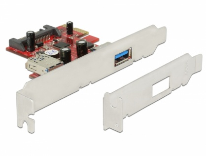 Placa PCI Express la 1 x USB 3.0 extern si 1 x USB 3.0 intern, Delock 89273