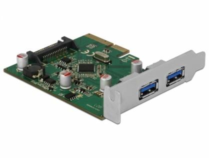 PCI Express la 2 porturi USB 3.1-A Gen 2, Delock 90298