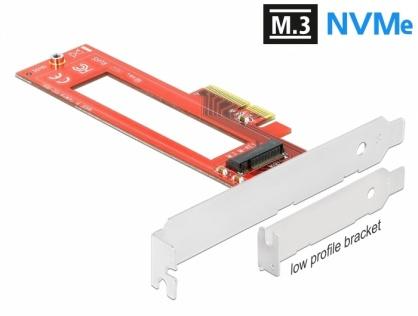 PCI Express cu un slot M.3 / NF1 LPFF, Delock 90401
